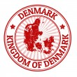 Denmark stamp — Stockvektor