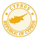 Cyprus stamp — Vecteur
