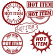 Set of Hot Item stamps — Stock Vector