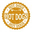 Stock Vector: Hot Dog sign