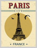 Eiffel Tower tower from Paris poster — Stock Vector