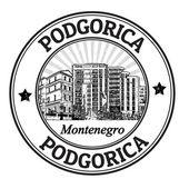 Podgorica stamp — Stock Vector