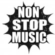 Stock Vector: Non stop music stamp