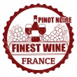 Pinot Noir, France stamp — Stock Vector