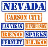Nevada şehir pulları — Stok Vektör