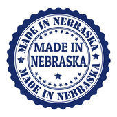 Made in Nebraska stamp — ストックベクタ