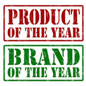 Product of the year and Brand of the year stamps — Stock Vector