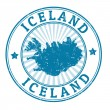 Iceland stamp — Stockvektor