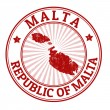 Malta stamp — Stock Vector