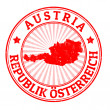 Austria stamp — Stock Vector