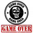 Game over stamp — Stockvectorbeeld