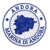 Andora stamp — Stock Vector