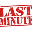 Last minute stamp — Vector de stock #31261405