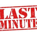 Last minute stamp — Stock Vector