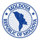 Moldova stamp — Stock Vector