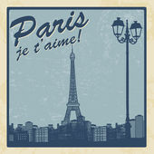 Paris vintage poster — Stock Vector
