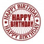 Happy birthday stamp — Stock Vector