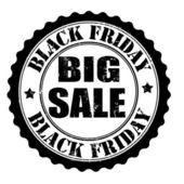Black friday big sale stamp — Stock Vector