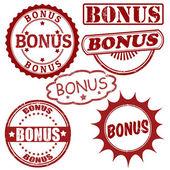 Set of bonus stamps — Stock Vector