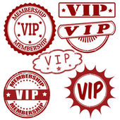 Set of VIP stamps — Stock Vector