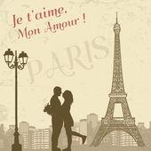 Retro Paris poster — Stock Vector