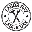 Labor day stamp — Stock Vector