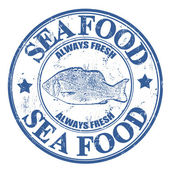 Sea food stamp — Stock Vector