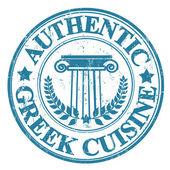 Authentic Greek Cuisine stamp — Stock Vector