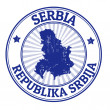 Serbia stamp — Stock Vector