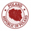 Poland stamp — Stock Vector