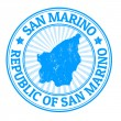 San Marino stamp — Stock Vector
