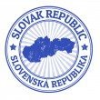 Slovak Republic stamp — Stock Vector