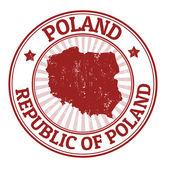 Poland stamp — Stock Vector