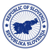 Slovenia stamp — Stock Vector