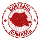 Romania stamp — Stock Vector