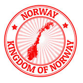 Norway stamp — Stock Vector