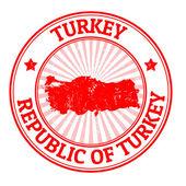 Turkey stamp — Stock Vector