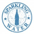 Sparkling water stamp — Stock vektor