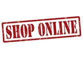 Shop Online stamp — Stock Vector