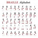 Braille alphabet — Stock Vector