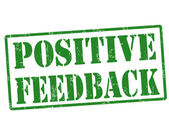 Positive feedback stamp — Stock Vector