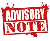 Advisory note stamp — Stock Vector