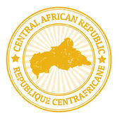 Central African Republic stamp — Stock Vector