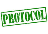 Protocol stamp — Stock Vector