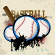 Baseballs and baseball bat poster — Stock Vector #31710363