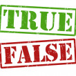 Stockvector : True and False stamps