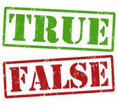True und false-briefmarken — Stockvektor