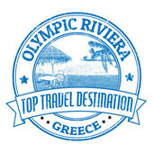 Olympic Riviera stamp — Stock Vector