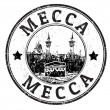 Stock Vector: Mecca stamp
