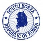 South Korea stamp — Stock Vector